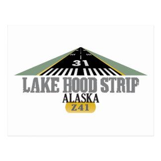 Lake Hood Strip Alaska - Airport Runway Postcard