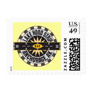 Lake Hood Strip Alaska Z41 Airport Stamp