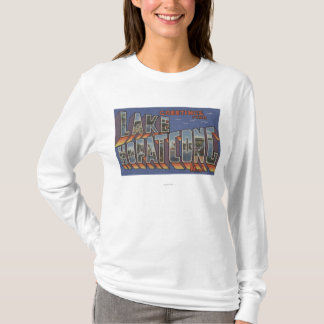 Lake Hopatcong, New Jersey - Large Letter Scenes T-Shirt