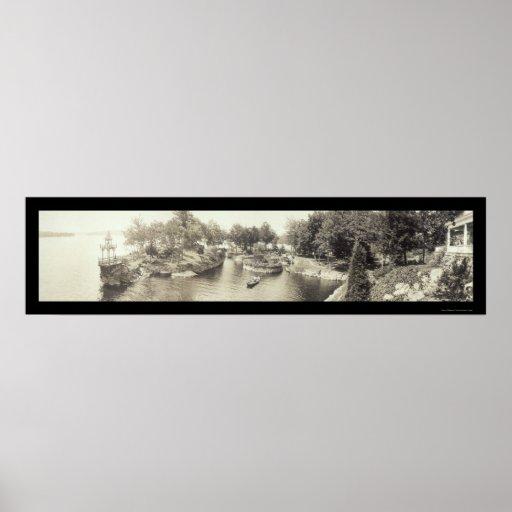 Lake Hopatcong, NJ Photo 1909 Poster