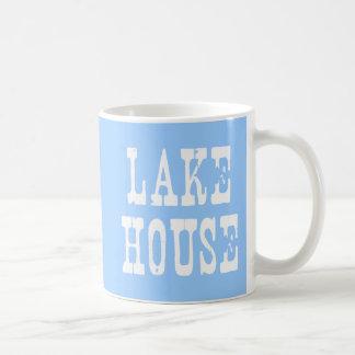 Lake House Blue Classic White Coffee Mug