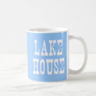 Lake House Blue Coffee Mug