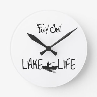 **LAKE HOUSE & FISH ON** COOL CLOCK