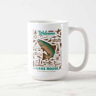Lake House Pattern Coffee Mug
