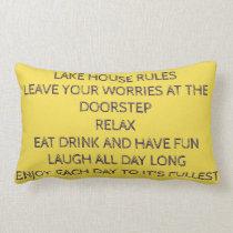 **LAKE HOUSE RULES** PILLOW