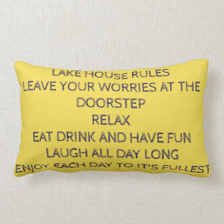 **LAKE HOUSE RULES** PILLOW