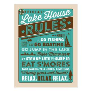Lake House Rules Postcard