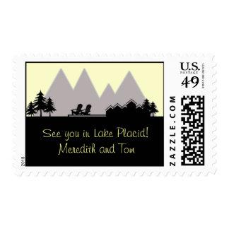 Lake House Skyline Postage Stamp