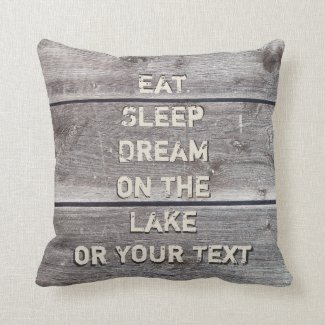 Lake House Throw Pillows with Your Text