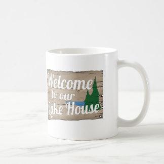 lake house welcome coffee mug