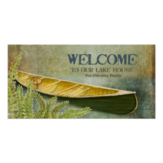 Lake House Welcome Personalized Family Name Poster