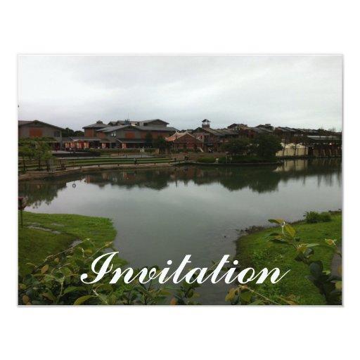 Lake houses in Taiwan Custom Announcement
