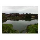 Lake houses in Taiwan Postcard