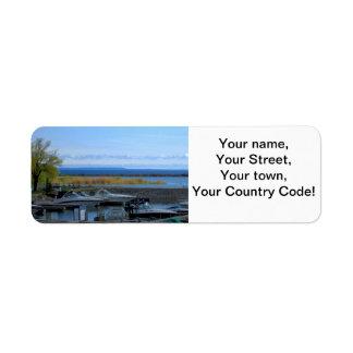Lake Huron Collingwood Ontario Return Address Label