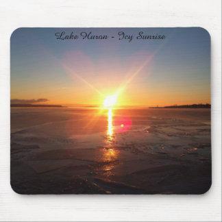 Lake Huron - Icy Sunrise Mouse Pad