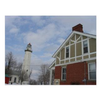 Lake Huron Light House Postcard