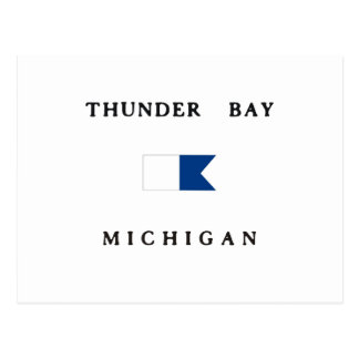 Lake Huron Michigan Alpha Dive Flag Postcard