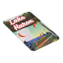 Lake Huron Travel poster Magnet