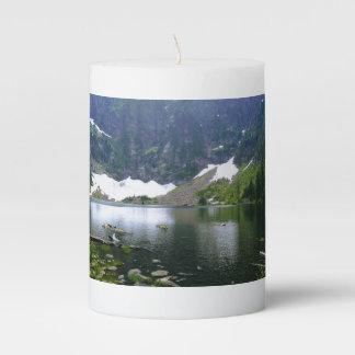 Lake Image Pillar Candle