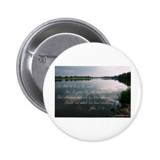Lake image with John 3:16 scripture Buttons