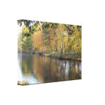 Lake In Autumn Gallery Wrapped Canvas