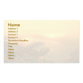 Lake in Azores islands Business Card