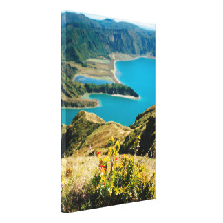 Lake in Azores islands Canvas Print
