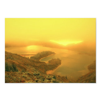 Lake in Azores islands Card