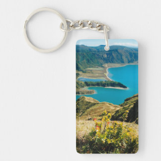 Lake in Azores islands Keychain