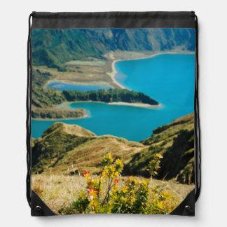 Lake in Azores islands Cinch Bag