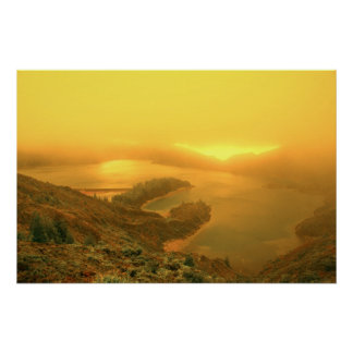 Lake in Azores islands Poster