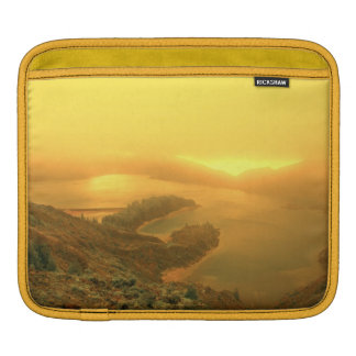 Lake in Azores islands Sleeve For iPads