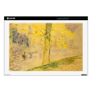 Lake in Bois de Boulogne by Berthe Morisot Decals For Laptops