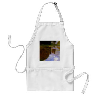 Lake in front of the Castle art by Gustav Klimt Adult Apron