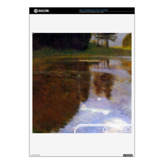 Lake in front of the Castle by Gustav Klimt PS3 Slim Console Skins