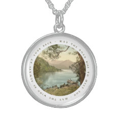 Lake in Ireland Irish Blessing Sterling Silver Sterling Silver Necklace at Zazzle