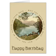 Lake in Kerry Ireland Vintage Happy Birthday Card at Zazzle