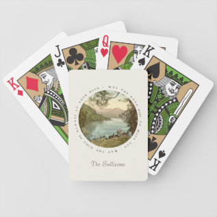 Lake In Kerry Ireland With Irish Blessing Bicycle Playing Cards at Zazzle