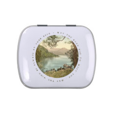 Lake in Kerry Ireland with Irish Blessing Jelly Belly Tins at Zazzle