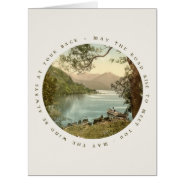 Lake in Kerry Ireland with Irish Blessing Card at Zazzle