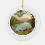 Lake In Kerry Ireland With Irish Blessing Ceramic Ornament at Zazzle