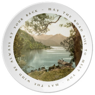 Lake In Kerry Ireland With Irish Blessing Dinner Plate at Zazzle
