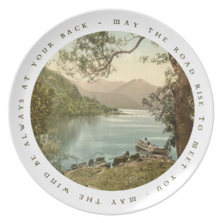 Lake in Kerry Ireland with Irish Blessing Dinner Plate