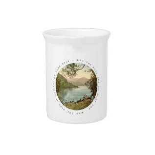 Lake In Kerry Ireland With Irish Blessing Drink Pitcher at Zazzle