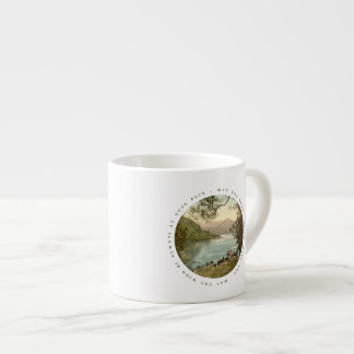 Lake in Kerry Ireland with Irish Blessing Espresso Cup