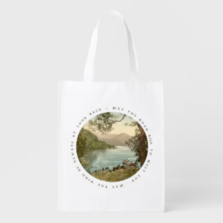 Lake in Kerry Ireland with Irish Blessing Grocery Bag