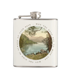 Lake in Kerry Ireland with Irish Blessing Hip Flask at Zazzle