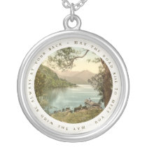 Lake in Kerry Ireland with Irish Blessing Jewelry at Zazzle