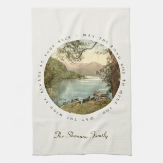 Lake In Kerry Ireland With Irish Blessing Kitchen Towel at Zazzle