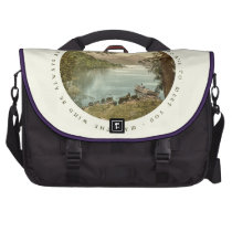 Lake in Kerry Ireland with Irish Blessing Laptop Bag at Zazzle
